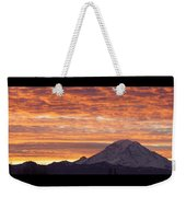 Mt Rainier December Sunrise Weekender Tote Bag
