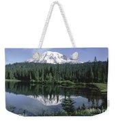 Mt. Ranier Reflection Weekender Tote Bag