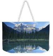 Mt Robson Highest Peak In The Canadian Weekender Tote Bag by Tim Fitzharris