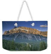 Mt Rundle And The Bow River Weekender Tote Bag
