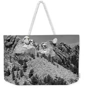 Mt. Rushmore Full View In Black And White Weekender Tote Bag