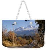 Mt Shasta Autumn Weekender Tote Bag