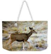 Mule Deer On The Move Weekender Tote Bag