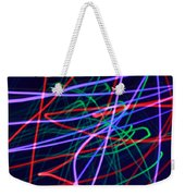 Multi-colored Glowing Light Streaks Weekender Tote Bag