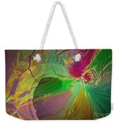 Multi Colored Rainbow Weekender Tote Bag by Deborah Benoit