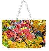 Multicolored Maple Weekender Tote Bag