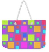 Multicoloured Squares Weekender Tote Bag by Louisa Knight