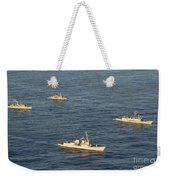 Multinational Navy Ships Move Weekender Tote Bag