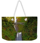 Multnomah Falls At Summer Solstice - Posterized Weekender Tote Bag
