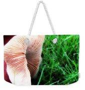 Mushroom And Dewdrops Weekender Tote Bag