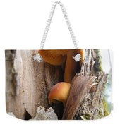Mushrooms On A Tree Weekender Tote Bag