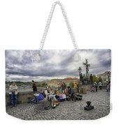 Musicians On The Charles Bridge - Prague Weekender Tote Bag