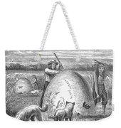 Muskrat Hunting, 1873 Weekender Tote Bag