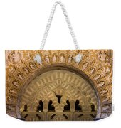 Muslim Arch With Christian Reliefs In Mezquita Weekender Tote Bag