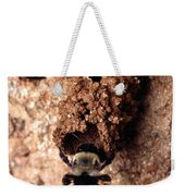 Mustached Mud Bee Weekender Tote Bag