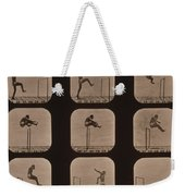 Muybridge Locomotion Of Man Jumping Weekender Tote Bag by Photo Researchers