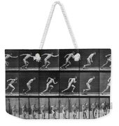 Muybridge Locomotion, Man Running, 1887 Weekender Tote Bag
