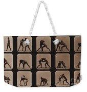 Muybridge Locomotion, Men Wrestling Weekender Tote Bag