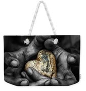 My Hands Your Hard Weekender Tote Bag by Stelios Kleanthous
