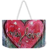My Love Heart Weekender Tote Bag