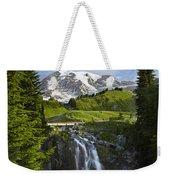 Myrtle Falls And Mount Rainier Mount Weekender Tote Bag by Tim Fitzharris