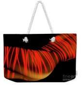 Naked Woman Body Painted With Laser Weekender Tote Bag