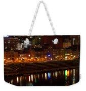 Nashville River Front By Night 1 Weekender Tote Bag