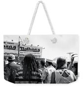 Nathan's Crowd In Coney Island 2 Weekender Tote Bag