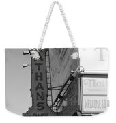 Nathan's Famous At Coney Island In Black And White Weekender Tote Bag