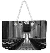 National Cathedral Interior Bw Weekender Tote Bag