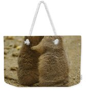 National Zoo 2 Prarie Dogs Sitting Weekender Tote Bag