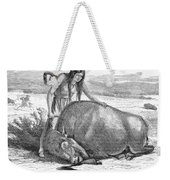 Native Amerians: Cutting Buffalo Weekender Tote Bag