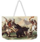 Native American Indian Bear Hunt, 19th Weekender Tote Bag