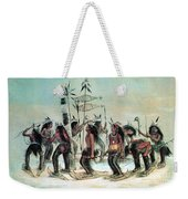 Native American Indian Snow-shoe Dance Weekender Tote Bag