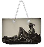 Native American Statue - Eakins Oval Philadelphia Weekender Tote Bag