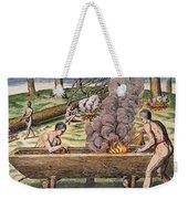Native Americans: Canoe, 1590 Weekender Tote Bag