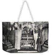 Nativity Grotto In 18th Century Weekender Tote Bag