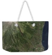 Natural-color Image Of The Mayon Weekender Tote Bag
