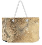 Natural-color Satellite View Of Amman Weekender Tote Bag