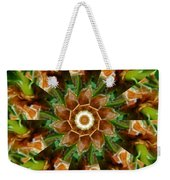 Natural Pinwheel Weekender Tote Bag
