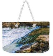 Natural Spring Waterfall Big River Weekender Tote Bag
