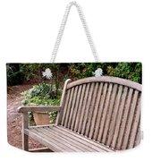 Natural Wood Weekender Tote Bag