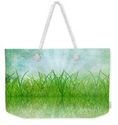 Nature And Grass On Paper Weekender Tote Bag by Setsiri Silapasuwanchai