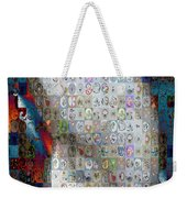 Nautilus Shell Mosaic Weekender Tote Bag