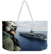 Naval Air Crewman Conducts A Visual Weekender Tote Bag