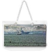 Naval Ship Weekender Tote Bag