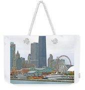 Navy Pier And Vicinity Weekender Tote Bag