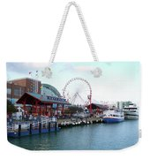 Navy Pier Chicago Summer Time Weekender Tote Bag