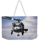 Navy Pilots In A Sh-60f Seahawk Conduct Weekender Tote Bag