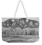 Ncar And Flatiron View Boulder Colorado Bw Weekender Tote Bag